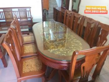 Bộ bàn ăn gỗ hương + gỗ nu