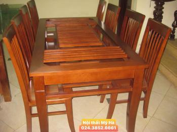 Bộ bàn ăn chữ nhật, 8 ghế