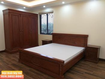 Tủ áo 3 cánh + giường