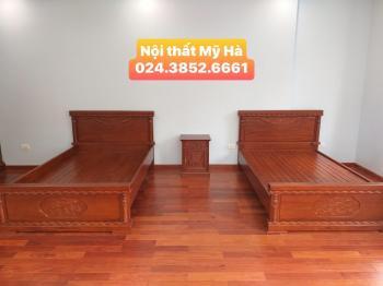 Giường 1.2m gỗ gõ