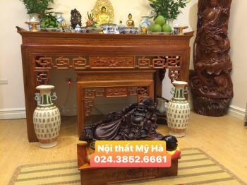 Cặp bàn thờ gỗ hương 1.75m